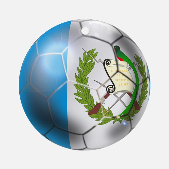 Guatemala Football Ornament (Round)