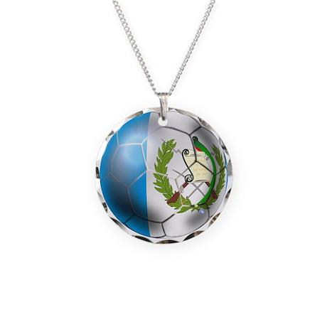 Guatemala Football Necklace Circle Charm