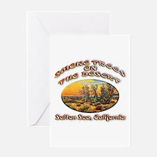 Smoke Trees On The Desert Greeting Card