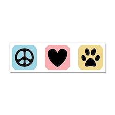 Peace Love Pets [i] Car Magnet 10 x 3