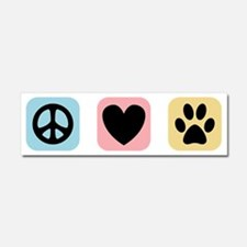 Peace Love Pets [i] Car Magnet 10 x 3