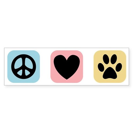Peace Love Pets [i] Sticker (Bumper)