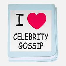 I heart celebrity gossip baby blanket