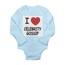 I heart celebrity gossip Long Sleeve Infant Bodysu