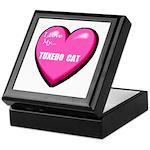 I Love My Tuxedo Cat Keepsake Box
