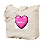 I Love My Tuxedo Cat Tote Bag