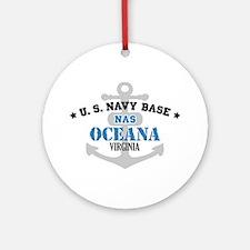 US Navy Oceana Base Ornament (Round)