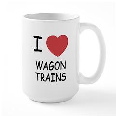 I heart wagon trains Mug