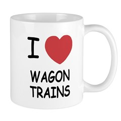 I heart wagon trains Mug