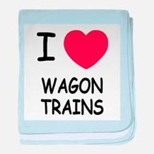I heart wagon trains baby blanket