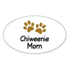 Cute Chiweenie Mom Decal