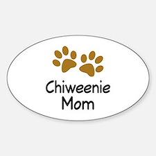 Cute Chiweenie Mom Decal