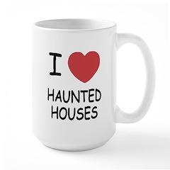 I heart haunted houses Large Mug