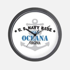 US Navy Oceana Base Wall Clock