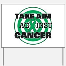 Take Aim - Liver Cancer Yard Sign