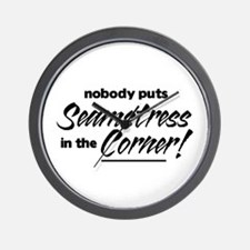 Seamstress Nobody Corner Wall Clock