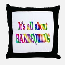 About Barbequing Throw Pillow