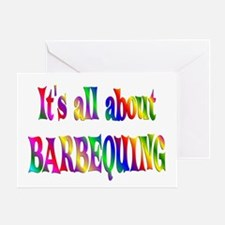 About Barbequing Greeting Card