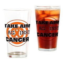 Take Aim - Kidney Cancer Pint Glass
