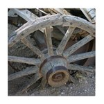 Goldfield Ghost Wagon Wheel - Tile Coaster