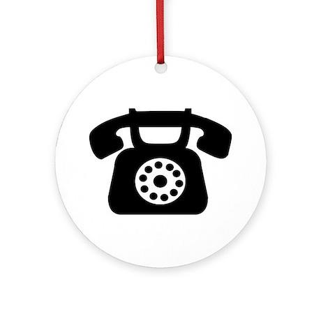 Telephone Ornament (Round)