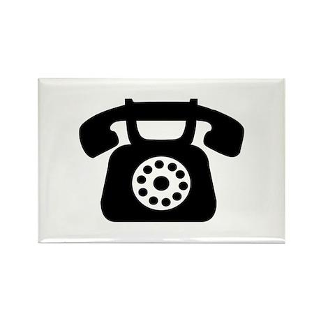 Telephone Rectangle Magnet