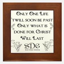 What we do for Christ Framed Tile