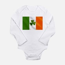 Irish Shamrock Flag Onesie Romper Suit