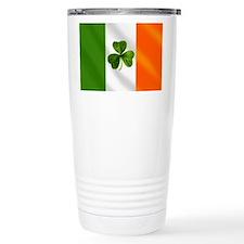 Irish Shamrock Flag Ceramic Travel Mug