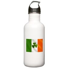 Irish Shamrock Flag Water Bottle