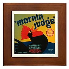 Morning Judge Framed Tile