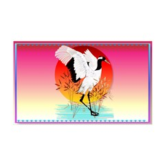 Red Crowned Crane and Setting Sun 38.5 x 24.5 Wall