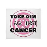 Take Aim - Breast Cancer Throw Blanket