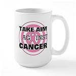 Take Aim - Breast Cancer Large Mug