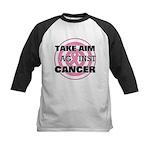 Take Aim - Breast Cancer Kids Baseball Jersey