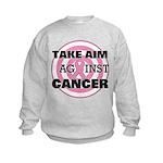 Take Aim - Breast Cancer Kids Sweatshirt