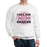 Take Aim - Breast Cancer Sweatshirt
