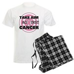 Take Aim - Breast Cancer Men's Light Pajamas