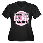 Take Aim - Breast Cancer Women's Plus Size V-Neck