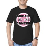 Take Aim - Breast Cancer Men's Fitted T-Shirt (dar