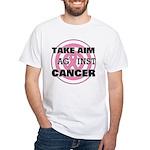 Take Aim - Breast Cancer White T-Shirt