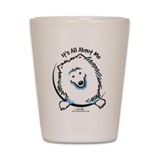 American Eskimo Dog Funny Shot Glass