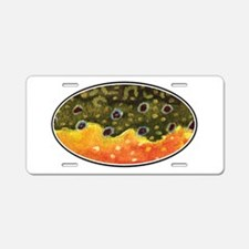 Brook Trout Fly Fishing Aluminum License Plate