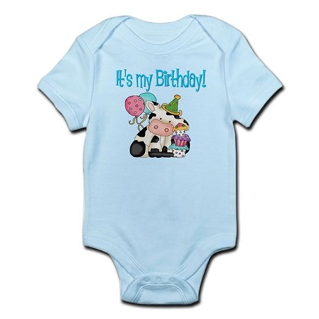 Kids birthday cow Infant Bodysuit