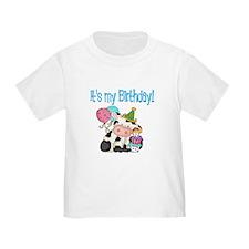 Kids birthday cow T