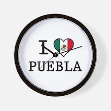 I Love Puebla Wall Clock