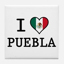 I Love Puebla Tile Coaster