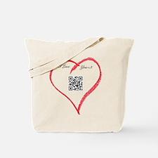 I Love You QR Code Tote Bag