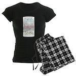 Faith Hope Love Women's Dark Pajamas