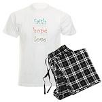 Faith Hope Love Men's Light Pajamas